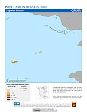 Map: Population Density (2000): Cayman Islands