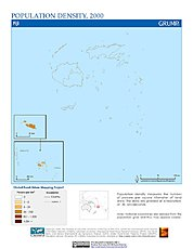 Map: Population Density (2000): Fiji