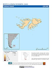 Map: Population Density (2000): Falkland Islands