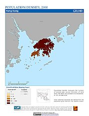 Map: Population Density (2000): Hong Kong