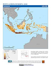 Map: Population Density (2000): Indonesia