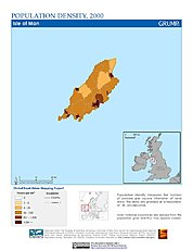 Map: Population Density (2000): Isle of Man
