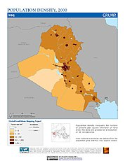 Map: Population Density (2000): Iraq