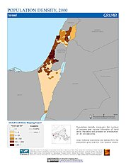 Map: Population Density (2000): Israel