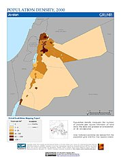 Map: Population Density (2000): Jordan
