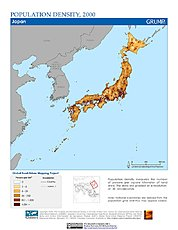 Map: Population Density (2000): Japan