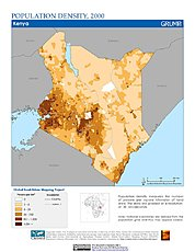 Map: Population Density (2000): Kenya