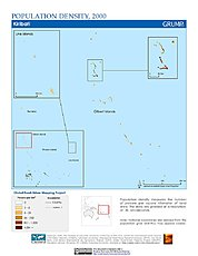 Map: Population Density (2000): Kiribati