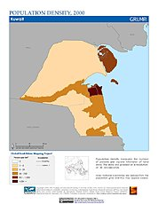 Map: Population Density (2000): Kuwait