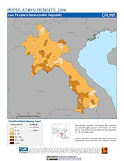 Map: Population Density (2000): Laos