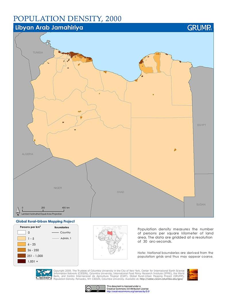 Maps Population Density Grid V SEDAC - Map of egypt libya