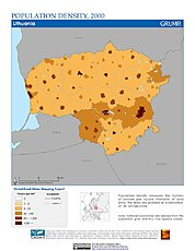 Map: Population Density (2000): Lithuania