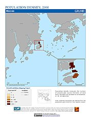 Map: Population Density (2000): Macao