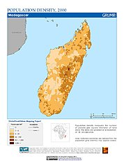 Map: Population Density (2000): Madagascar