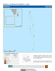 Map: Population Density (2000): Maldives