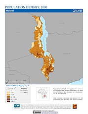 Map: Population Density (2000): Malawi