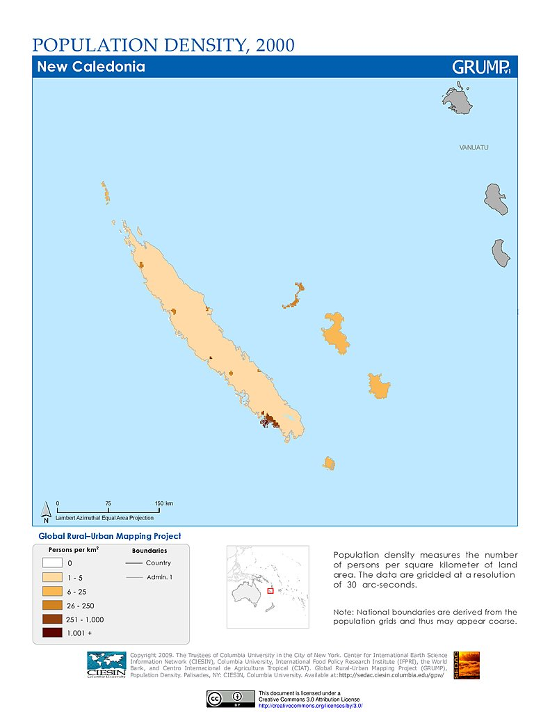 Maps » Population Density Grid, v1: | SEDAC