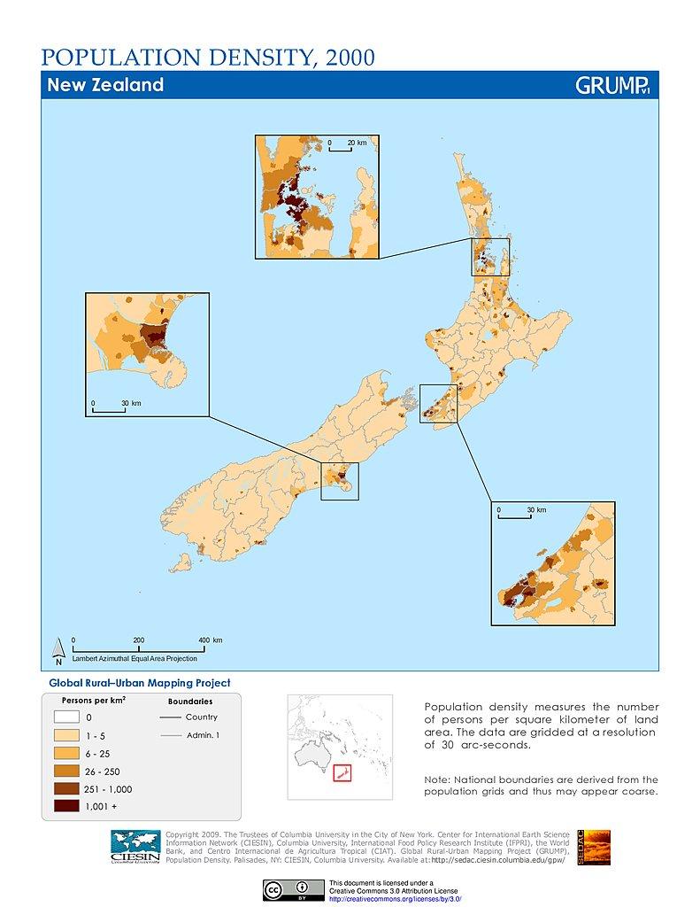 Maps » Population Density Grid, v1: | SEDAC