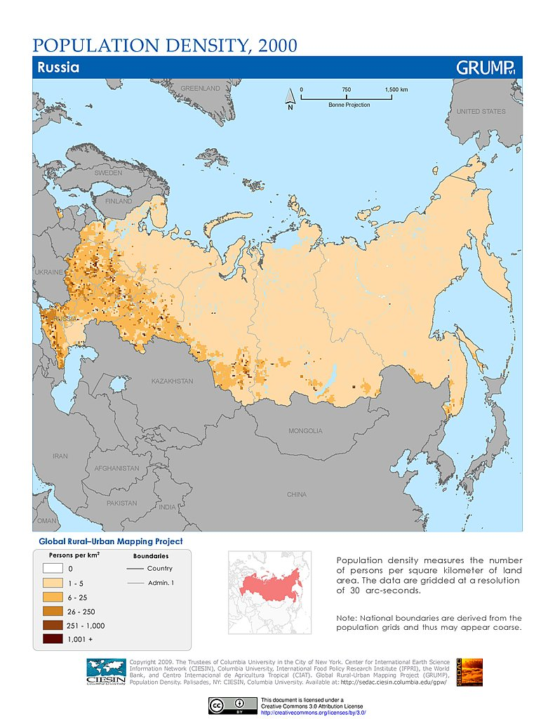 population density 2000 russia