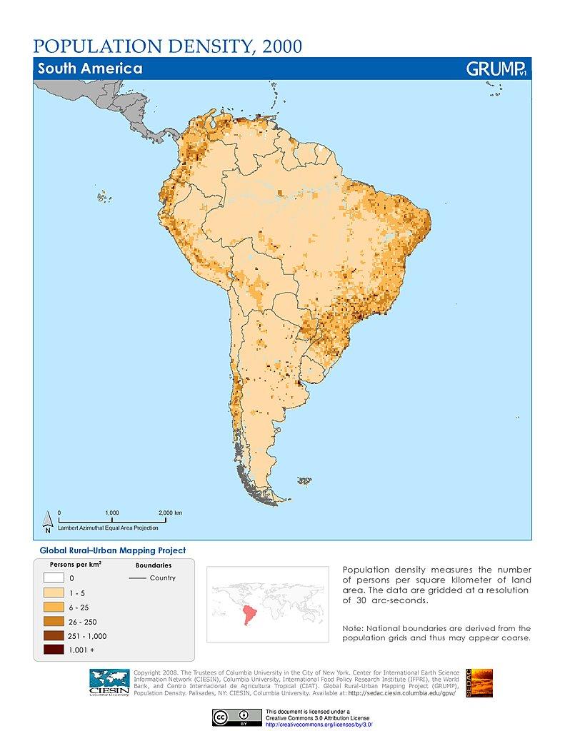 Maps Population Density Grid V SEDAC - Us map equal population density