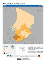 Map: Population Density (2000): Chad