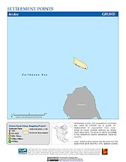 Map: Settlement Points: Aruba