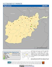 Map: Settlement Points: Afghanistan