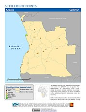 Map: Settlement Points: Angola