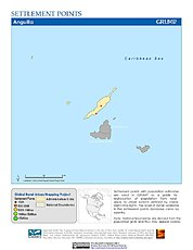 Map: Settlement Points: Anguilla