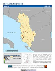 Map: Settlement Points: Albania
