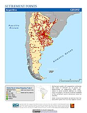 Map: Settlement Points: Argentina