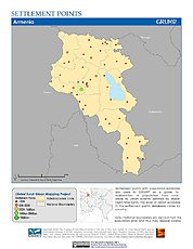 Map: Settlement Points: Armenia