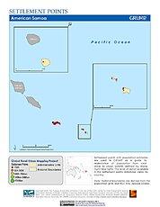 Map: Settlement Points: American Samoa