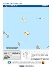 Map: Settlement Points: Antigua & Barbuda