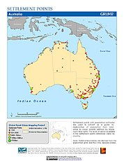 Map: Settlement Points: Oceania