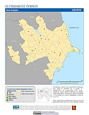 Map: Settlement Points: Azerbaijan