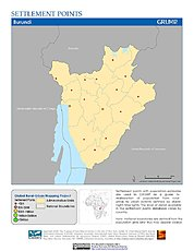 Map: Settlement Points: Burundi