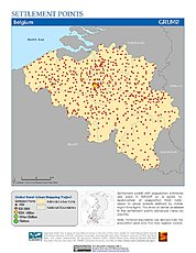 Map: Settlement Points: Belgium