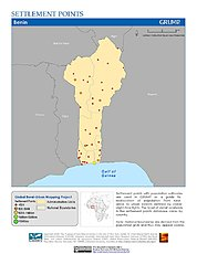 Map: Settlement Points: Benin