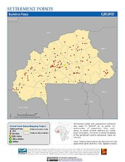 Map: Settlement Points: Burkina Faso