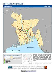 Map: Settlement Points: Bangladesh