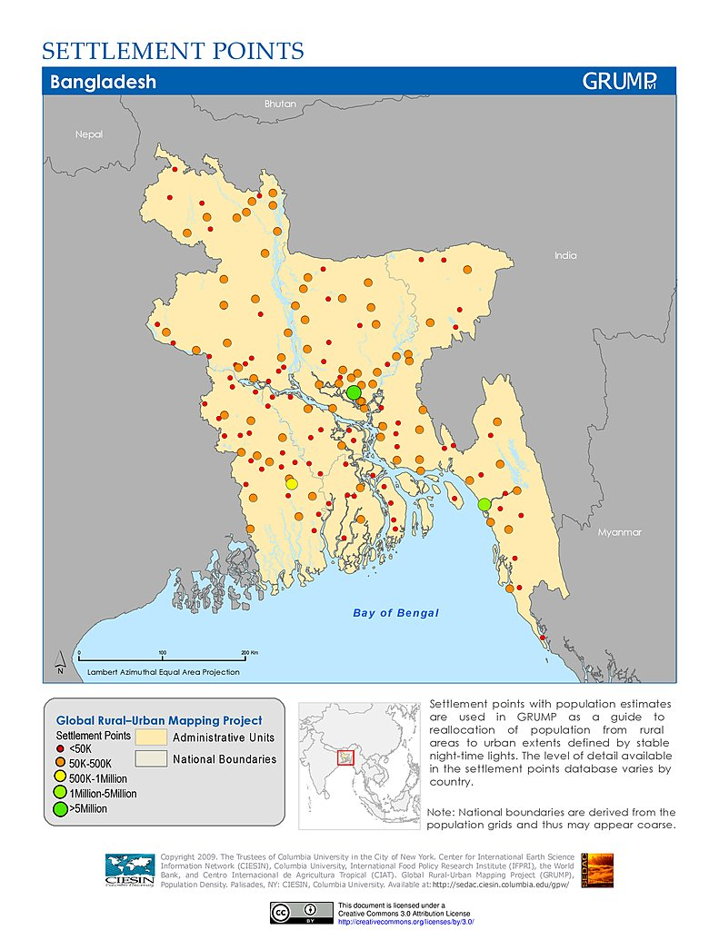 Maps settlement points v1 sedac settlement points bangladesh gumiabroncs Image collections