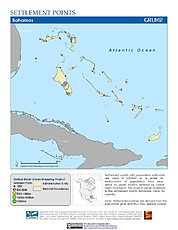 Map: Settlement Points: Bahamas