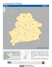 Map: Settlement Points: Belarus