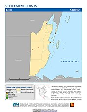 Map: Settlement Points: Belize
