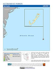 Map: Settlement Points: Bermuda
