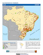 Map: Settlement Points: Brazil