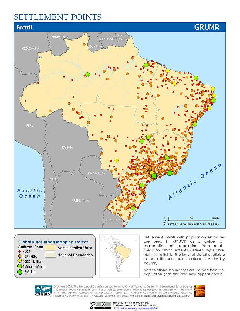 Maps Global RuralUrban Mapping Project GRUMP V SEDAC - Argentina agriculture map