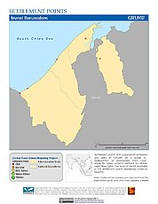 Map: Settlement Points: Brunei Darussalam