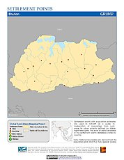Map: Settlement Points: Bhutan
